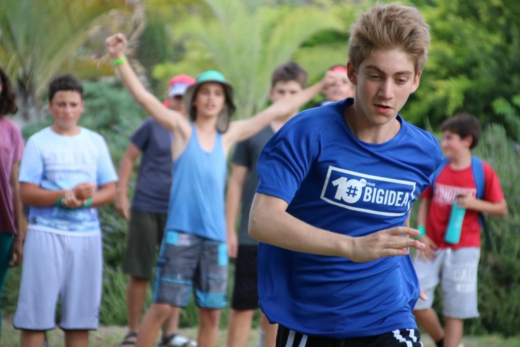Big Idea Campers teen playing