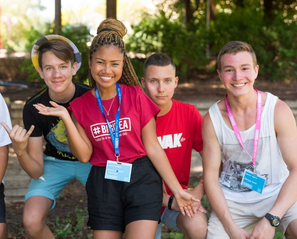 Big Idea Campers With Counselor